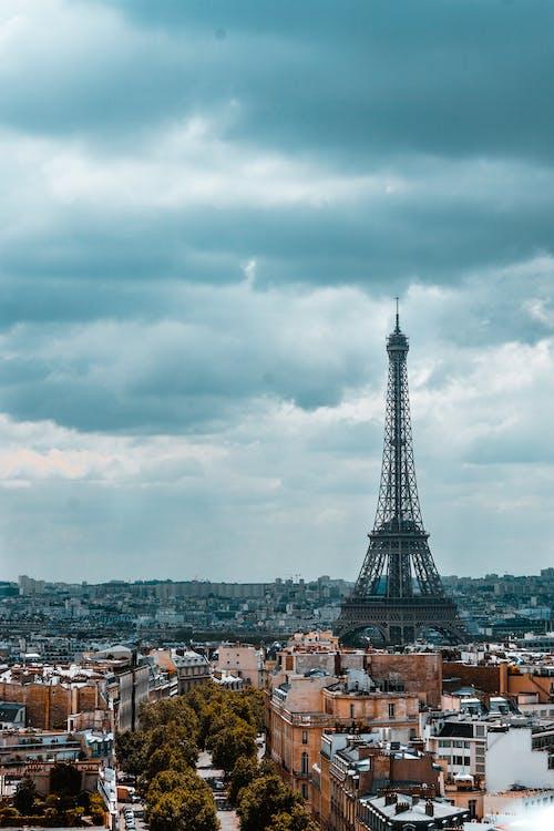 Ingyenes stockfotó agglomeráció, belváros, Eiffel-torony, építészet témában