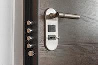 metal, door, lock