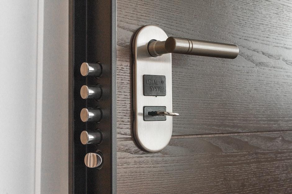 door, handle, key