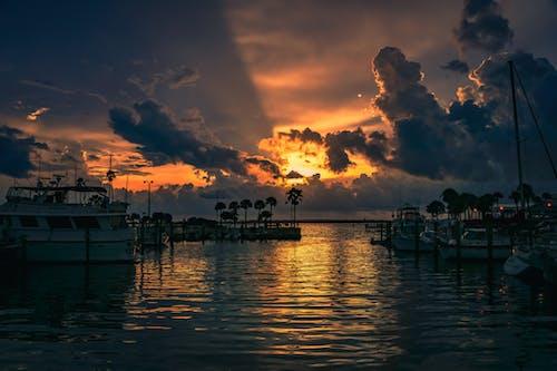 akşam, bulutlar, deniz manzarası, Florida içeren Ücretsiz stok fotoğraf