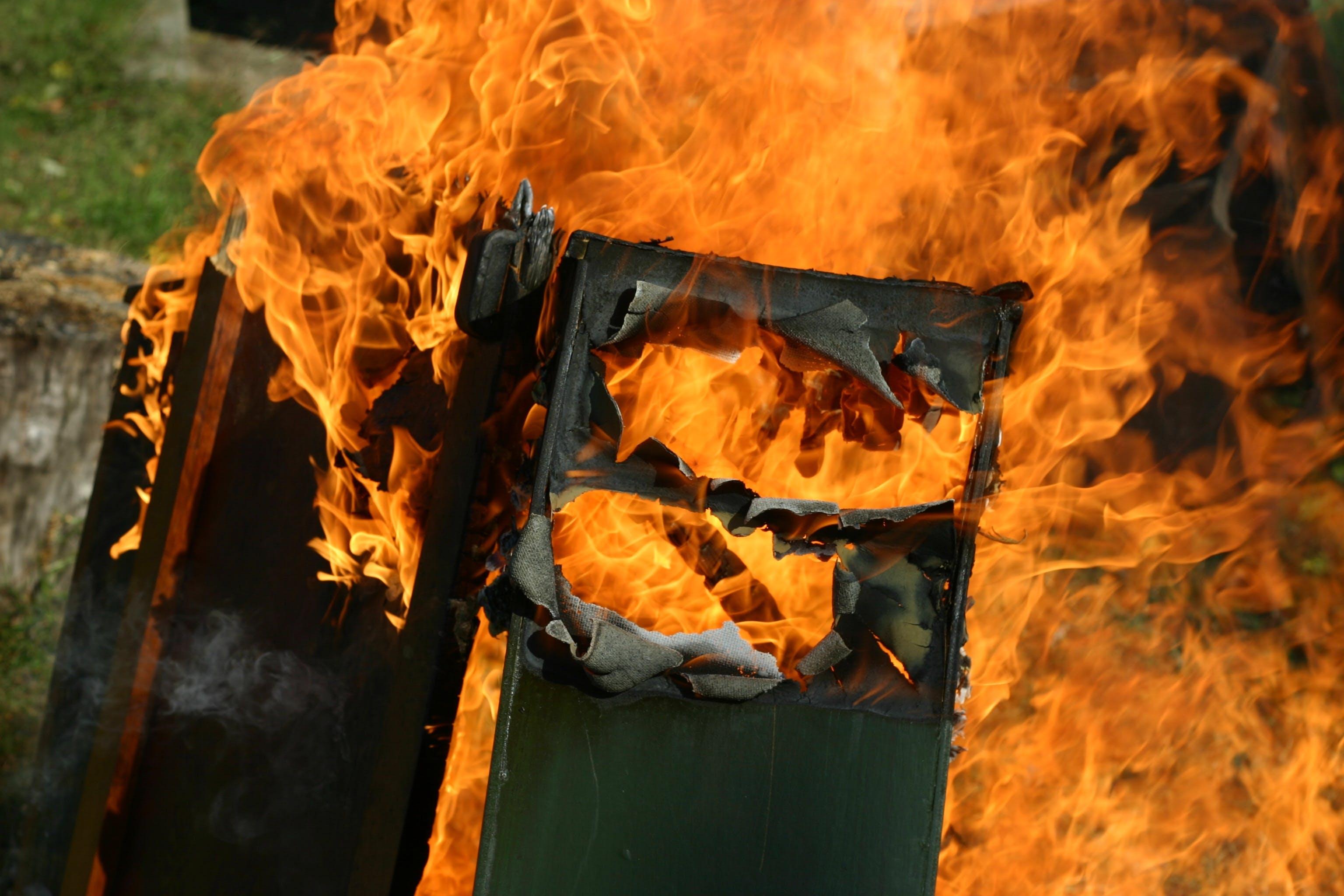 Free stock photo of burn, daytime, fire, furniture