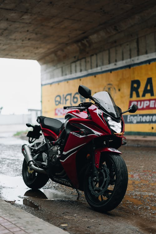 Red And Black Sports Bike