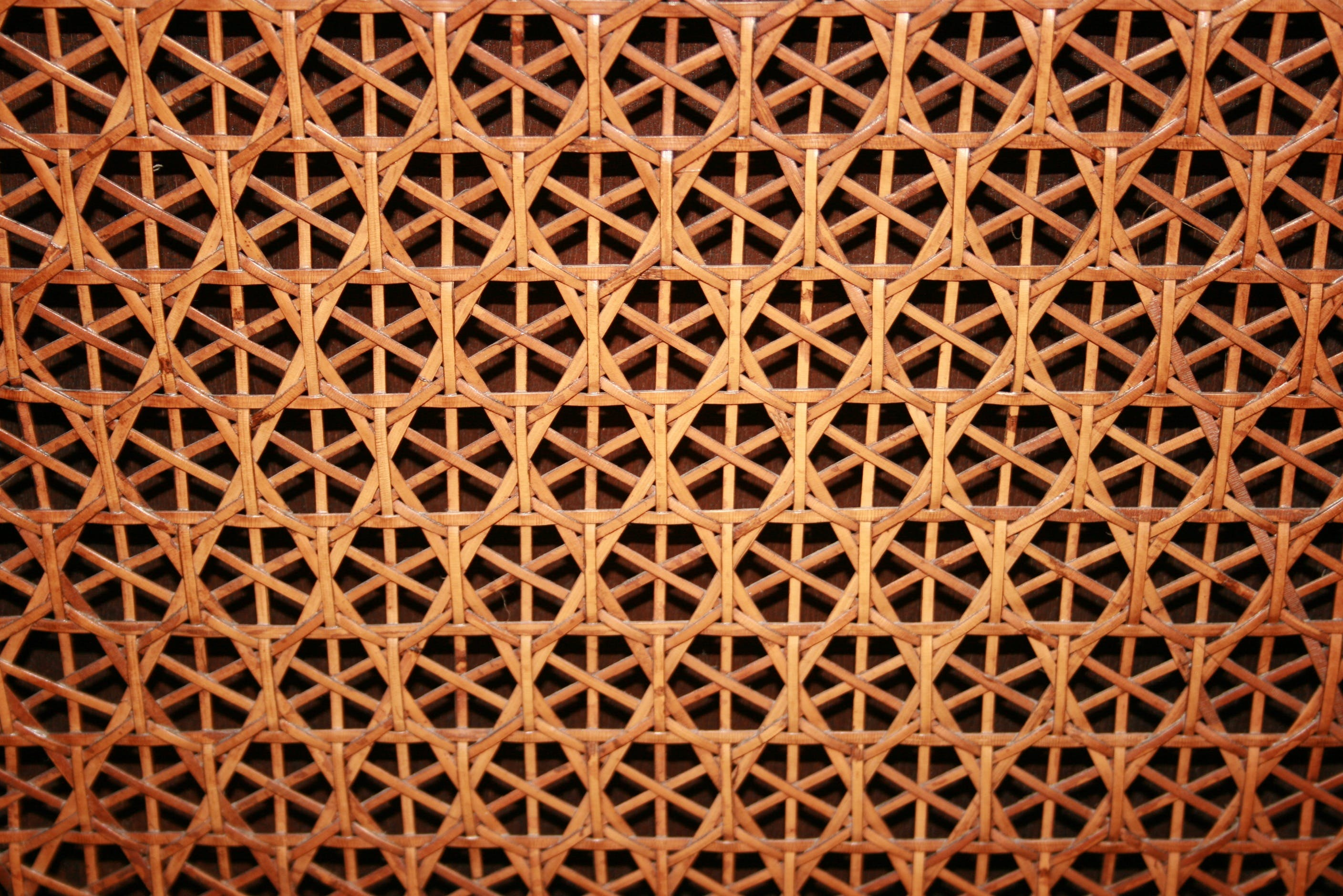 Brown Wicker Surface