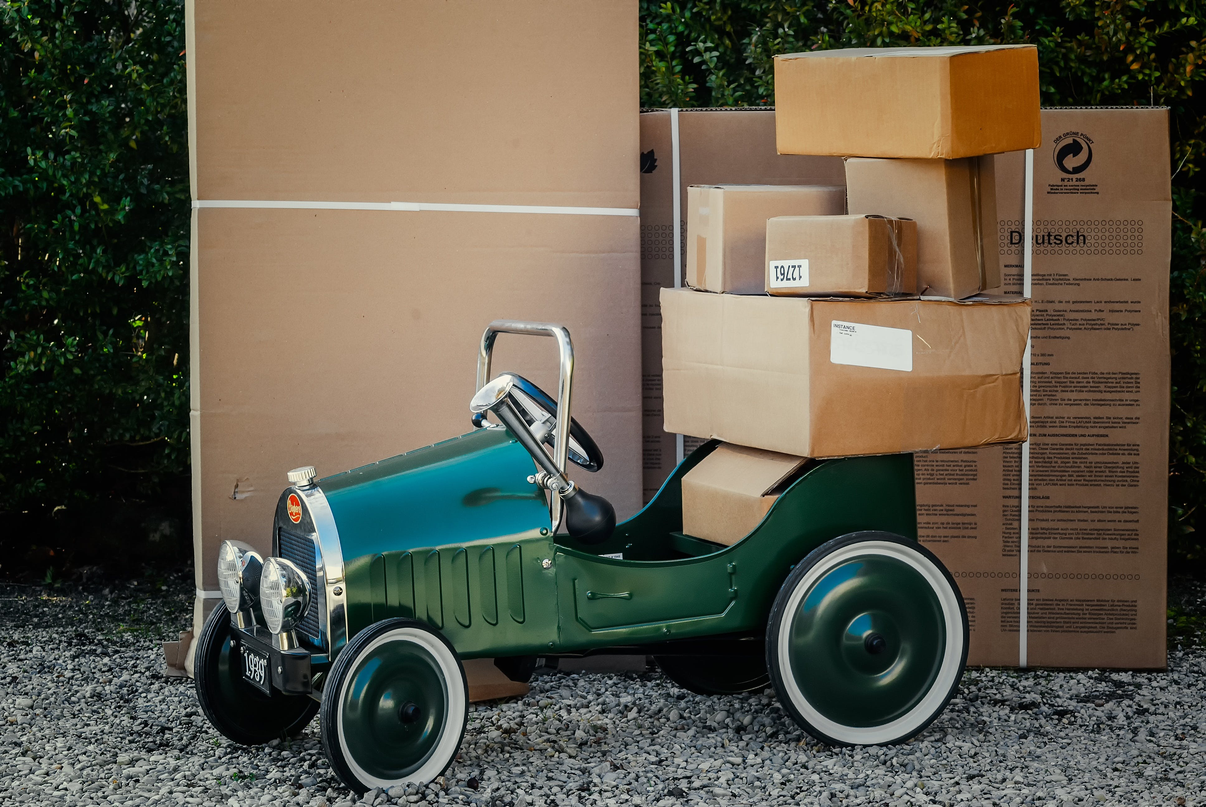 carton, delivery service, package