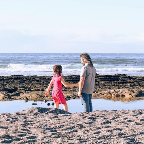 คลังภาพถ่ายฟรี ของ การเล่น, ครอบครัว, ทราย, ทะเล
