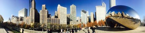 Darmowe zdjęcie z galerii z architektura, bramka chmury, budynki, chicago