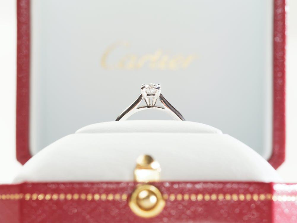 cartier, diamant, diamantový prsten