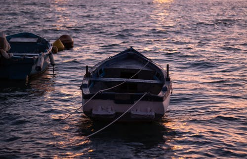 Free stock photo of blue, boat, evening, fisherman