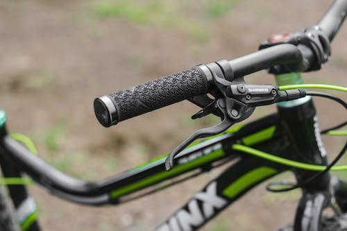 Close Up of Bicycle Handle Bar