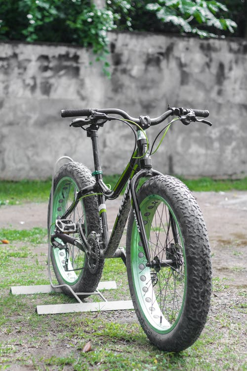 Black Bike on Field