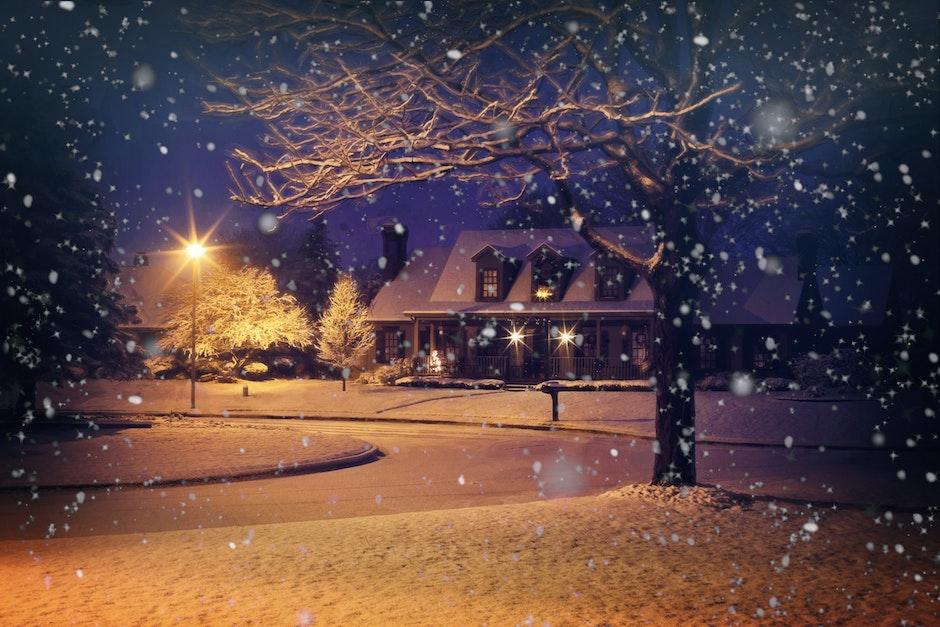 christmas, home, house