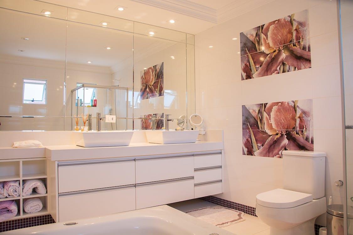architectuur, badkamer, binnen