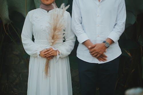 Ảnh lưu trữ miễn phí về ban nhạc đám cưới, bó hoa cưới, chuẩn bị trước, cô gái hồi giáo