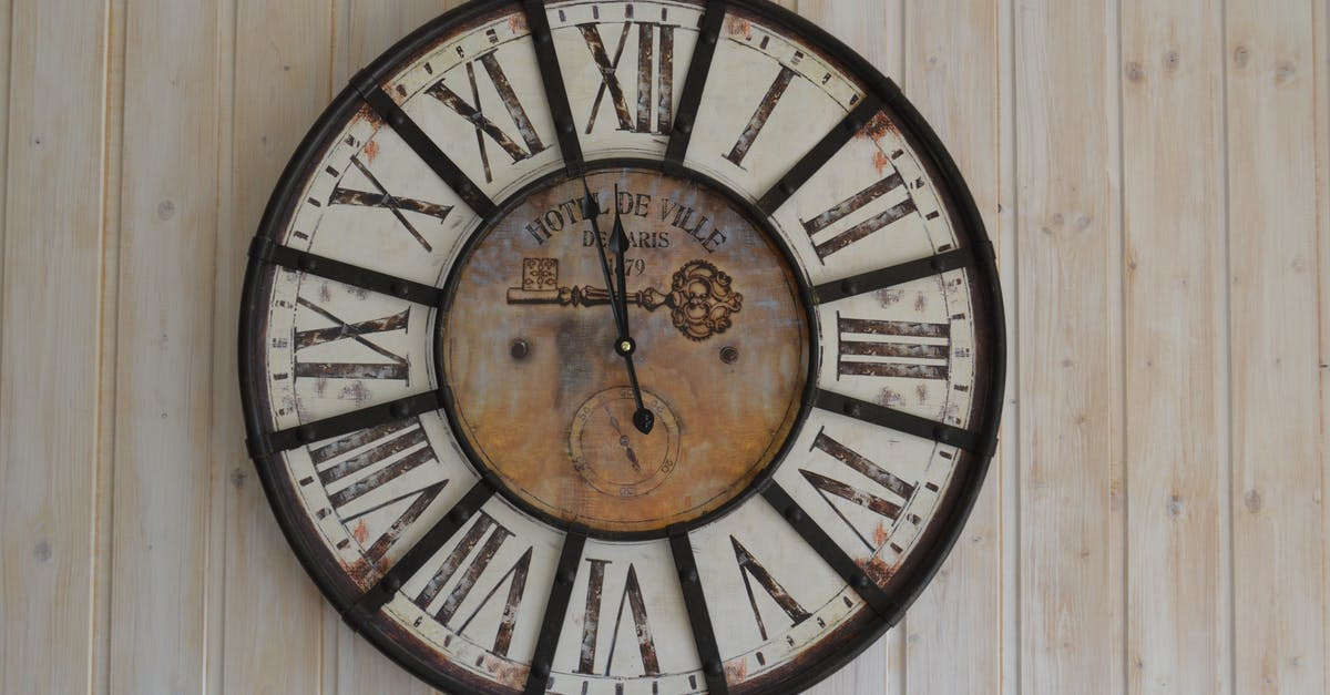 Black And White Wooden Analog Wall Clock 183 Free Stock Photo