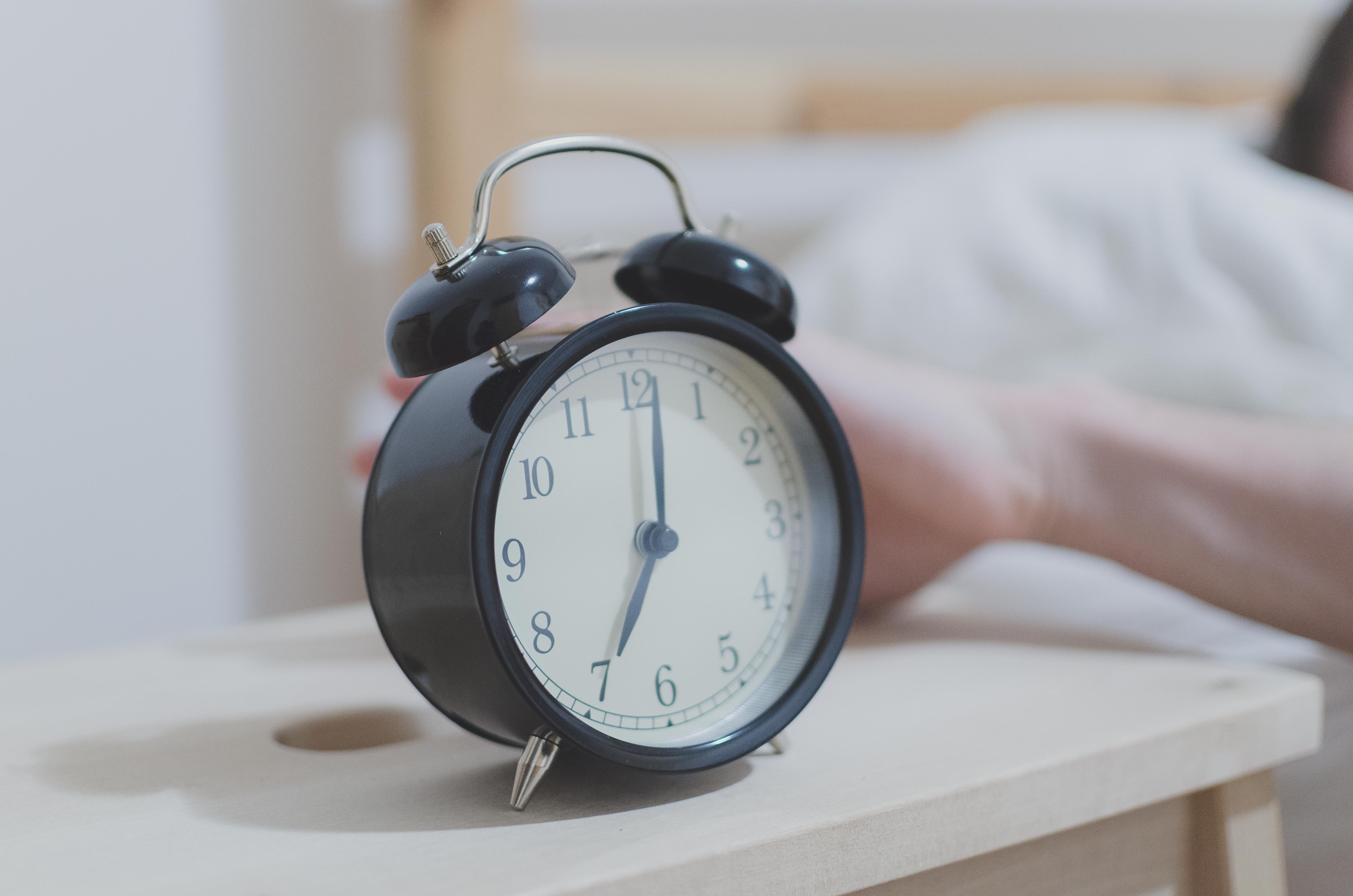 Analog Alarm Clock Displaying 07:00