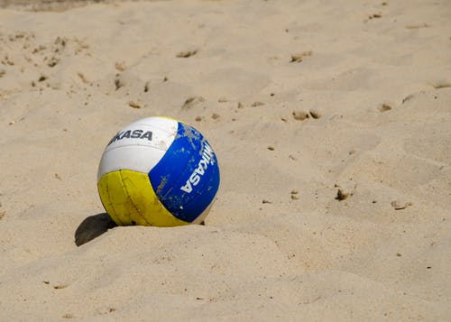 Gratis lagerfoto af ballon, beach volleyball, sand, sand-strand