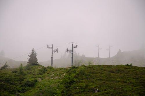 Gratis lagerfoto af skilift, sommer, tåge, vinter