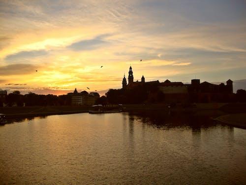 克拉科夫, 古老的城堡, 波蘭, 美麗的夕陽 的 免費圖庫相片