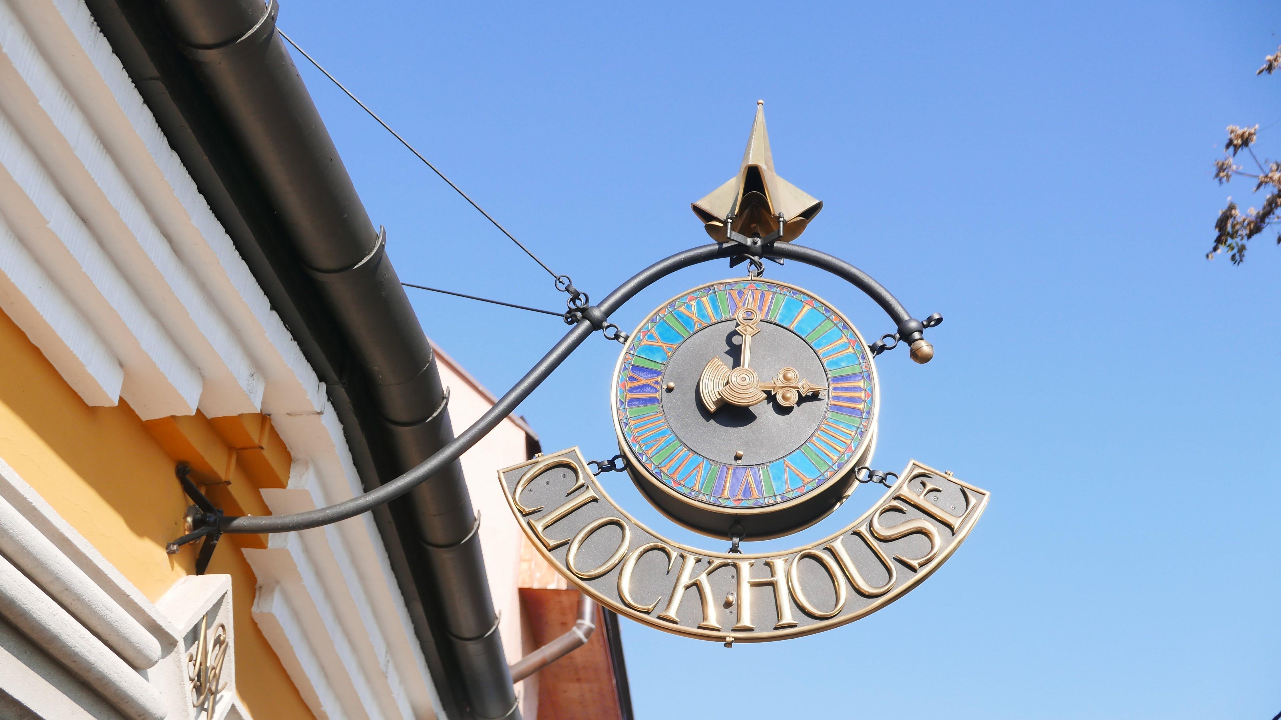 Free stock photo of sign board, szentendre, clock house
