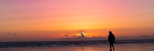 Free stock photo of Beautiful sunset, Blue ocean, cloud, pink sky