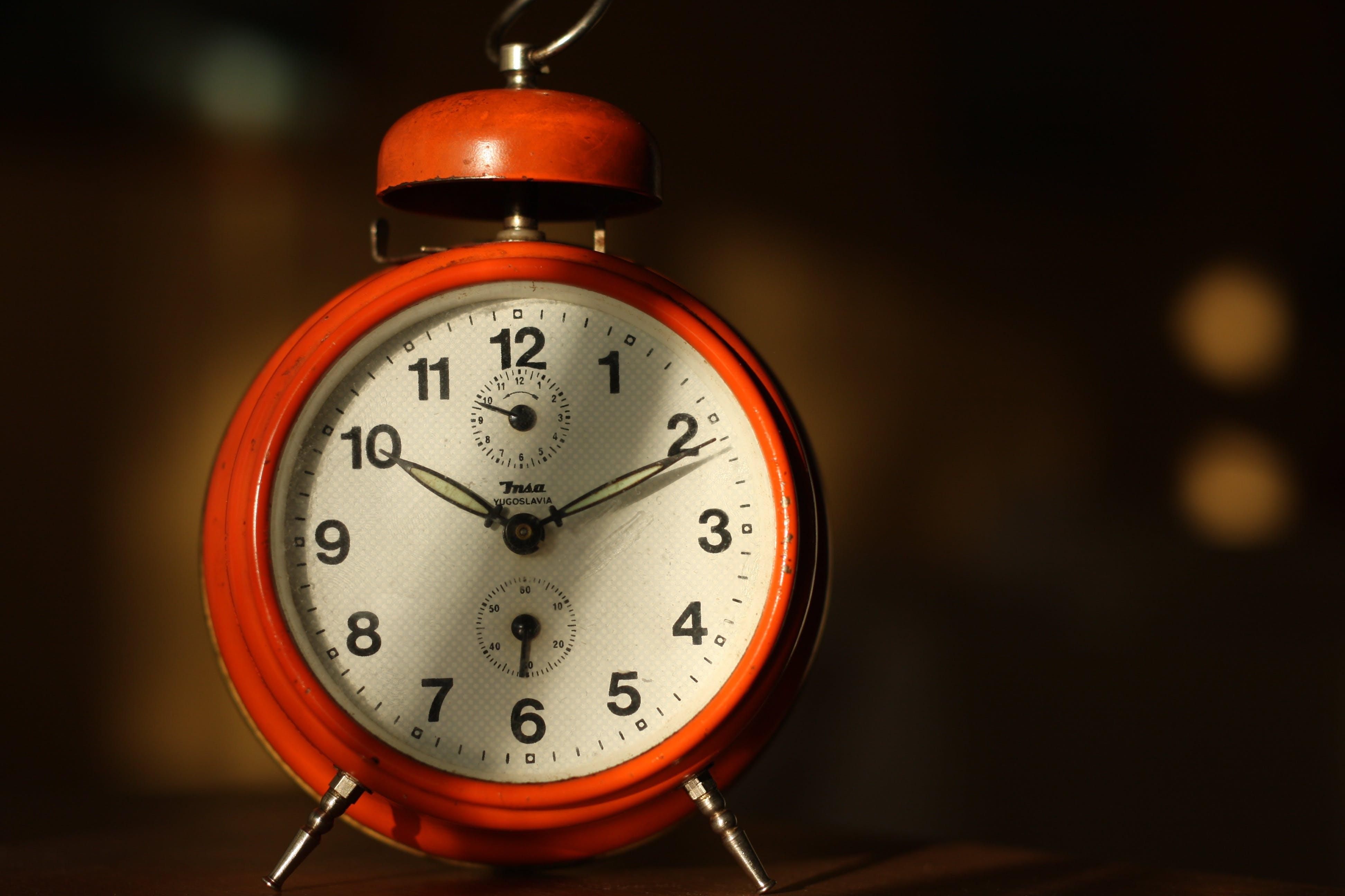 Red Alarm Clock at 10:11