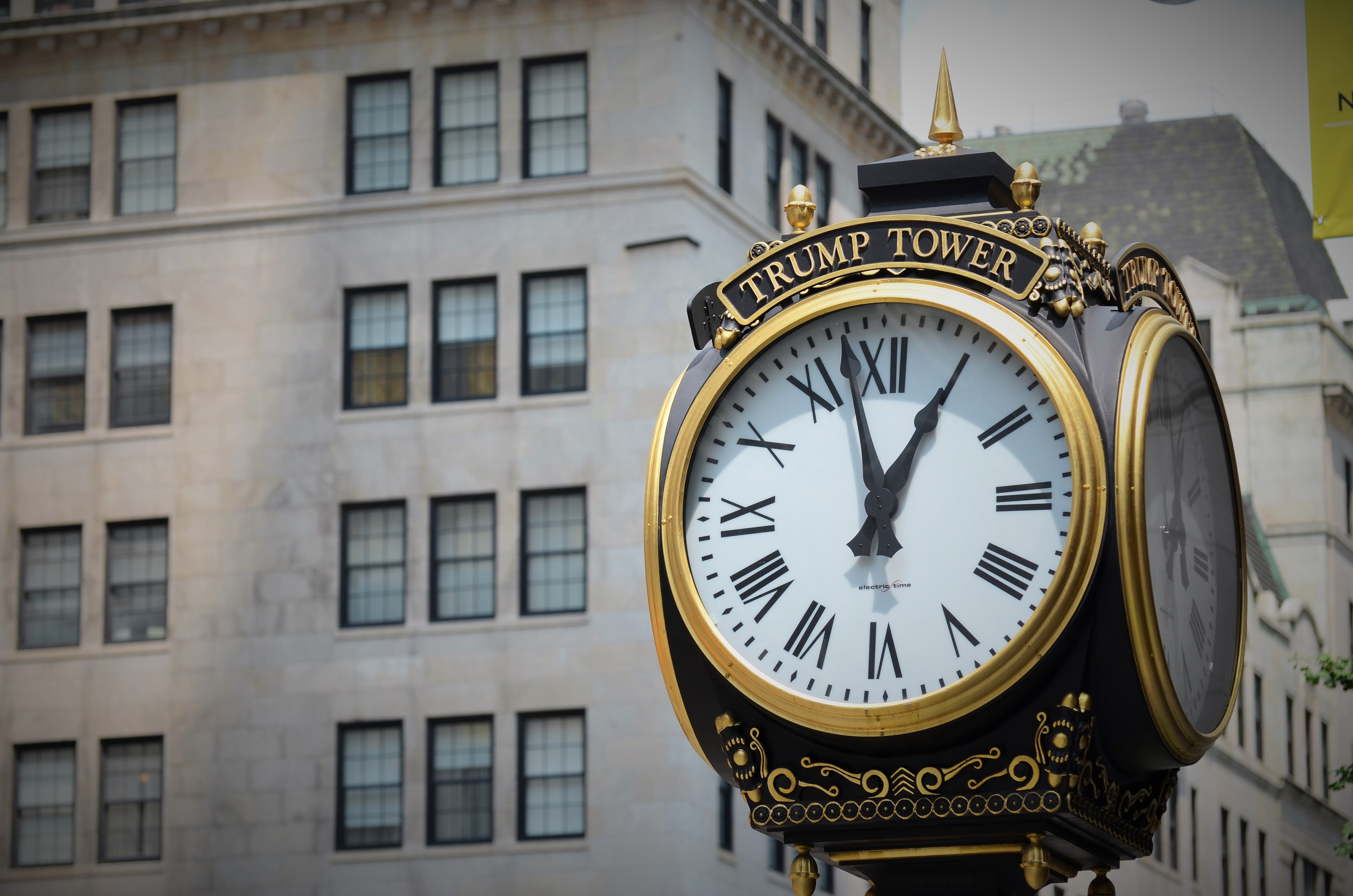 Black and Gold Trump Tower Clock