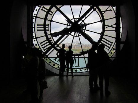 Free stock photo of france, paris, time, clock