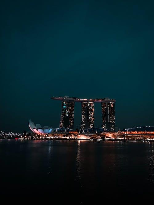 Бесплатное стоковое фото с Азия, архитектура, бизнес, вечер