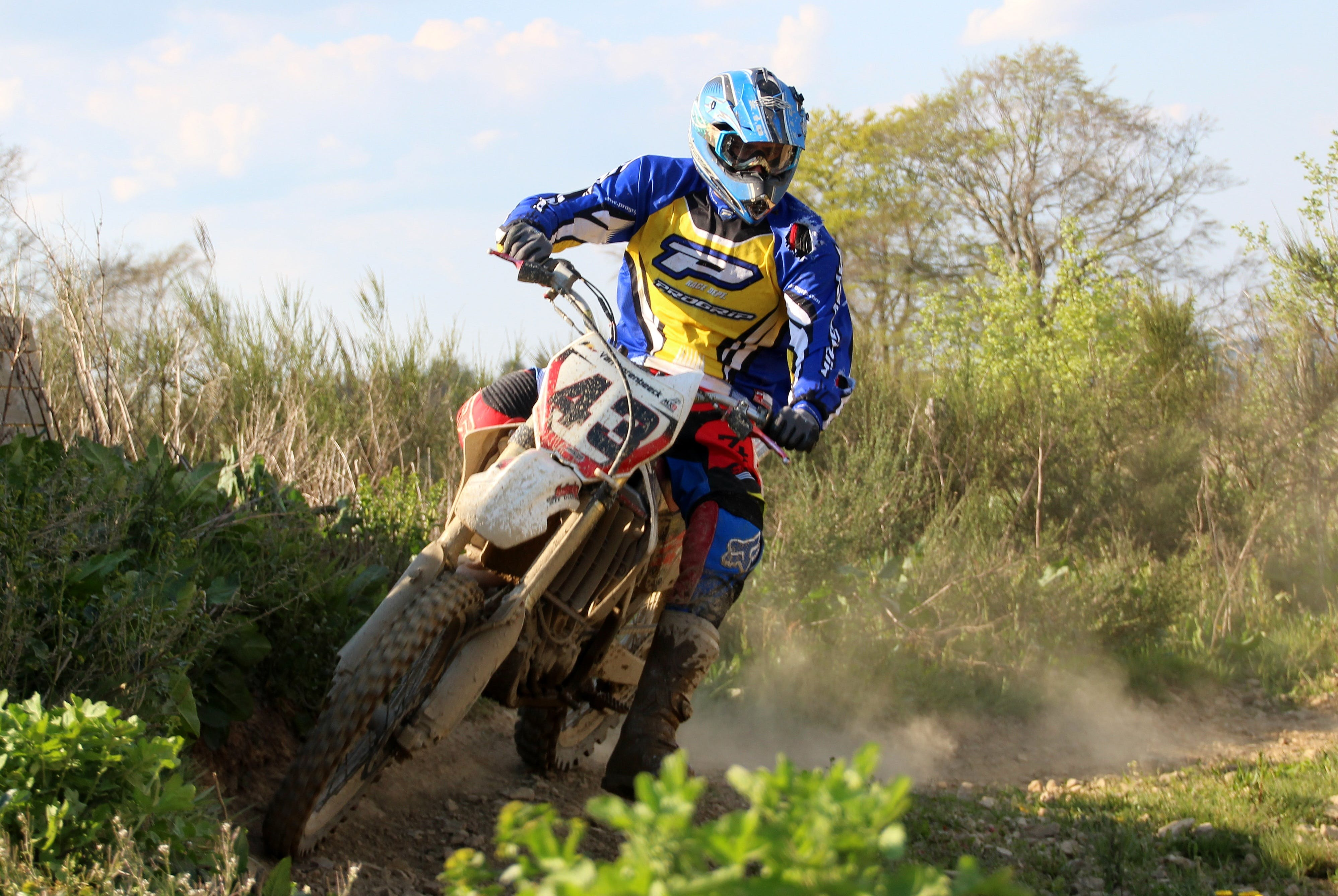 Free stock photo of cross, training, motorcycle, driver