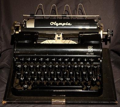 Free stock photo of old, antique, typewriter, retro