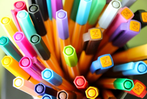 Free stock photo of office, pens, color, drawing