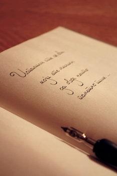 Free stock photo of handwritten, desk, notebook, office