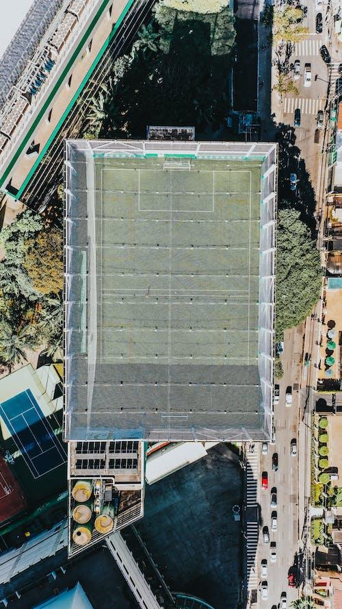 俯視圖, 建築, 戶外, 無人機攝影 的 免費圖庫相片
