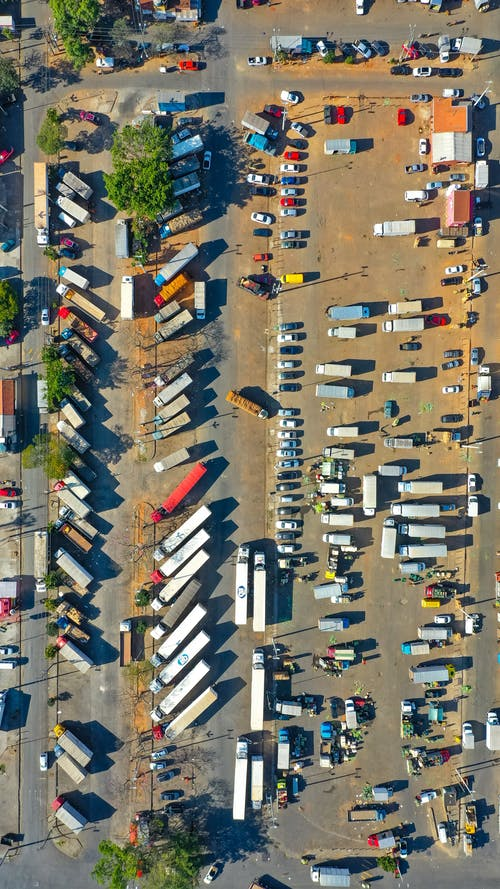 Top View Photo of Parking Lot