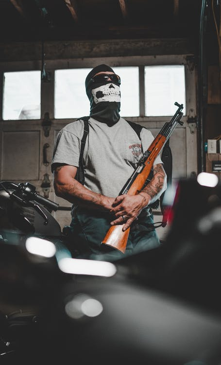 adulte, arme, arme à feu
