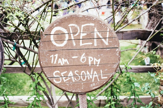 Free stock photo of sign, open