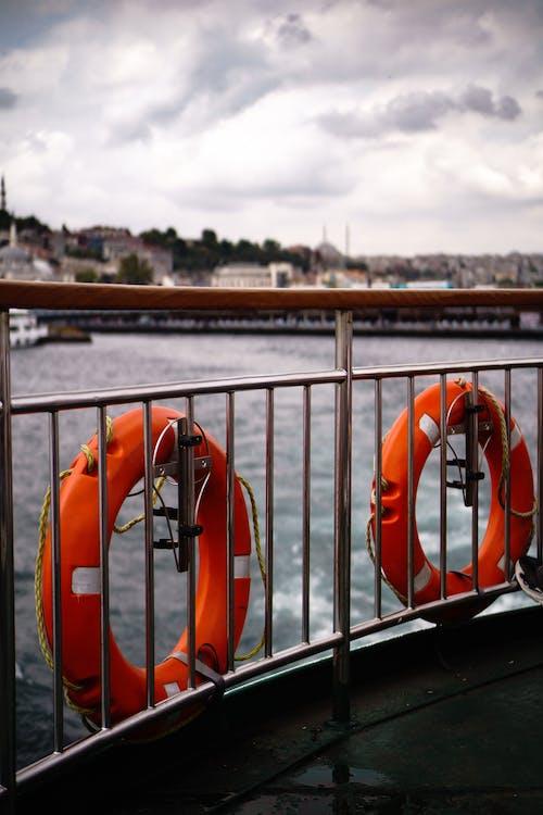 Free stock photo of boat, dock, lifebuoy
