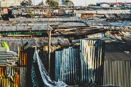 日出, 贫民窟, 贫民窟里的房子 的 免费素材照片
