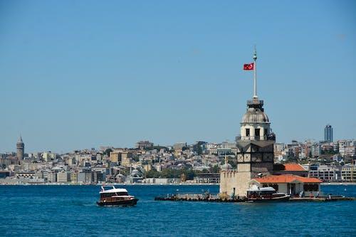 Foto profissional grátis de boğaziçi, galata kulesi, kız kulesi