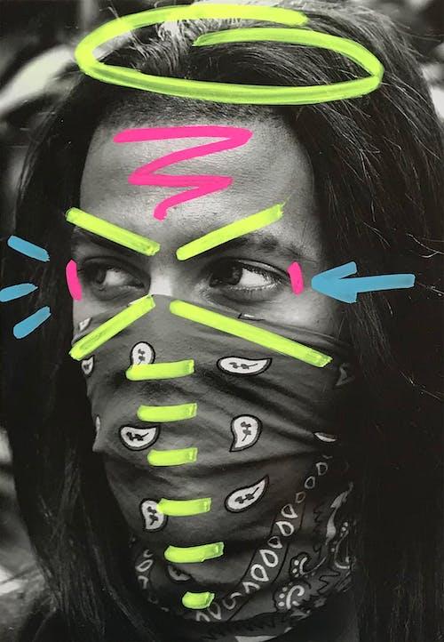 그래피티, 그레이스케일, 네온, 다채로운의 무료 스톡 사진