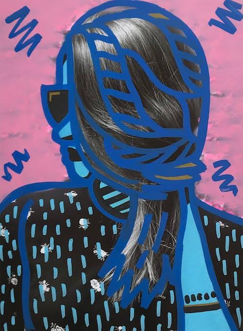 Бесплатное стоковое фото с в помещении, графический, графический дизайн, женщина