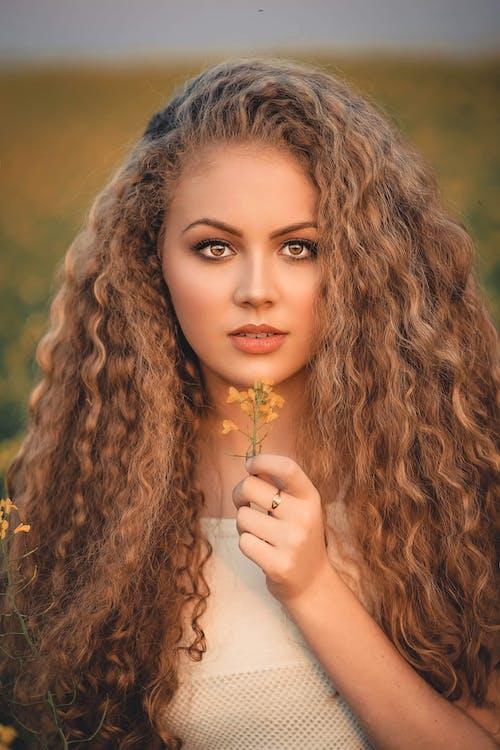 женщина, кожа, красивый