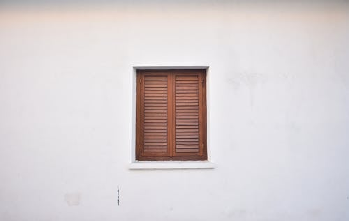 Free stock photo of minimalist, old window, wall, white wall