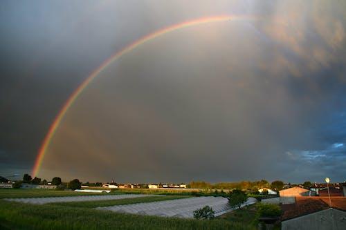 Ingyenes stockfotó felhők, kora reggel, Napkelte, szivárvány témában