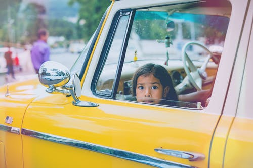 Free stock photo of child, girl, vintage, vintage car