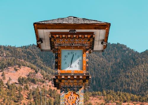 Free stock photo of adventure, Bhutan, clock, clock tower