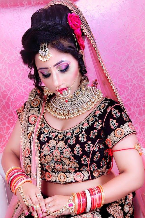 人, 傳統, 刺繡, 化妝 的 免費圖庫相片