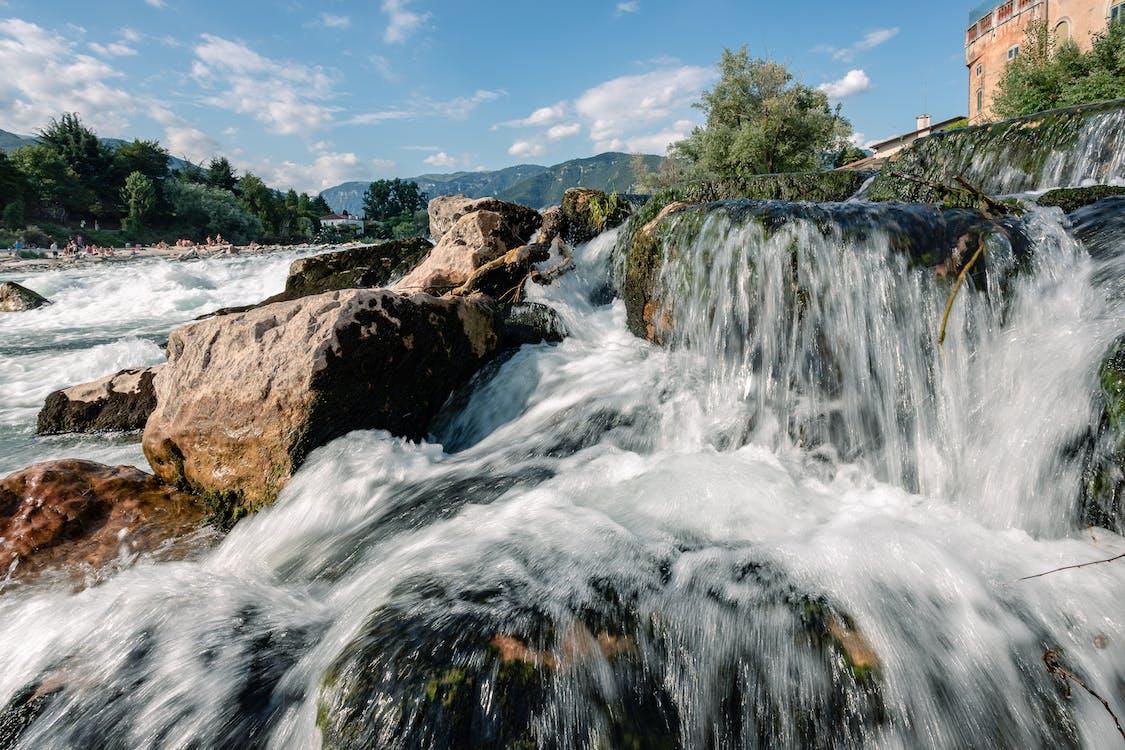 пейзаж, пороги, проточная вода