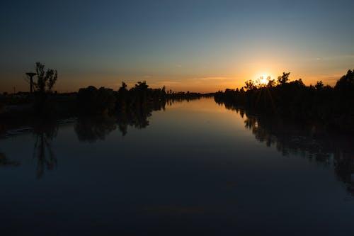 Ảnh lưu trữ miễn phí về con sông, hoàng hôn đẹp, phản ánh, phong cảnh