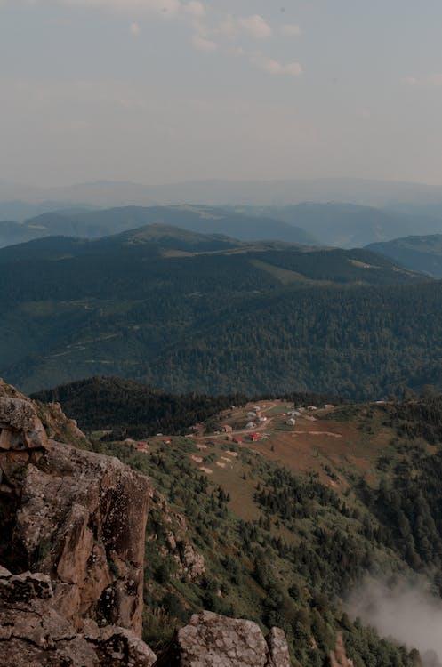 Bird's Eye View Of Mountains During Daytime